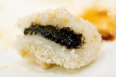 black sesame seed paste mochi
