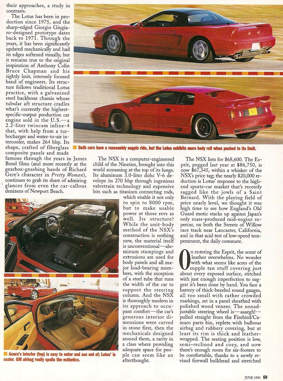 Acura Of Columbus >> VWVortex.com - The Archive - Acura NSX vs. Lotus Esprit Turbo