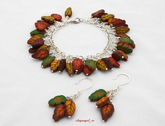 Simply Autumn set (clayangel_sc) Tags: art beauty fashion necklace beads artist handmade originalart ooak jewelry polymerclay clay gift canes handcrafted wearableart accessories bracelets earrings acessories brooches necklaces finishing polymer millefiori artjewelry hypoallergenic adornments artisanjewelry canework handmadebeads artbeads handcraftedbeads notpainted polymerclayjewelry polymerclaycanes oneofakindjewelry fauxjewelry southcarolinaartist jewelryartisan boldjewelry clayangel oneofakindpiece clayangelsc nopaintisinvolved athousandflowers