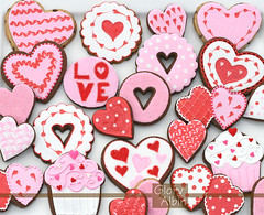 Valentine's Cookies (Glorious Treats) Tags: pink red white cute love cookies hearts day sugar polkadots valentines