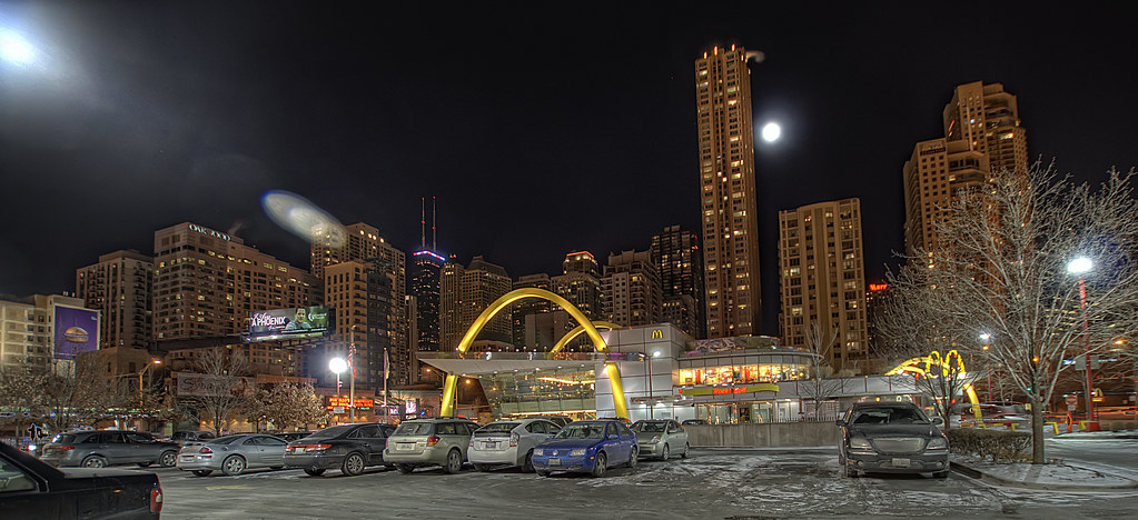 Rock and Roll McDonald's in Downtown Chicago