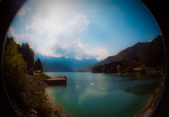 Tranquillity (docworld) Tags: two panorama lake film 35mm landscape lago lomo estate end expired ferie barcis rullino scaduto fiheye silviaallegri zonoztufadiqvestasitwuazione silviarimembriancorqueltempo foglioankoraantareinfakanza nononlorimembro