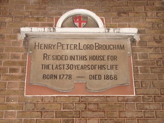 Photo of Henry Peter Brougham stone plaque