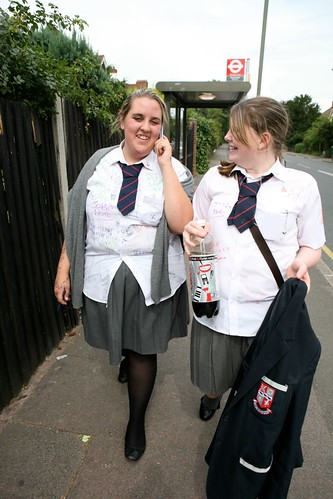 The phrase Chubby teens in school uniform