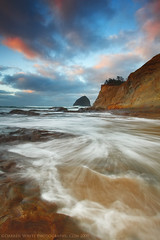 Black Friday Sunrise (Darren White Photography) Tags: ocean beach nature oregon sand waves northwest scenic pacificocean pacificnorthwest oregoncoast haystackrock tides pacificcity capekiwanda 1740l oregonbeaches darrenwhite canoncameras oregontravel darrenwhitephotography 5dmkii landscapesofthenorthwest landscapesoforegon traveloreogn