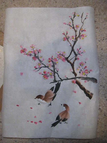 Sparrows and Cherry