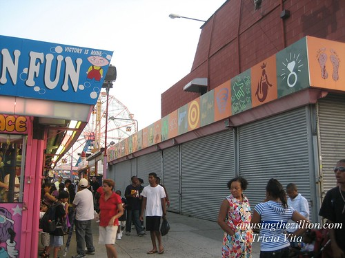 John Strong's Freak Museum 2010 Location: Thor Equities Shuttered Grashorn Bldg, Surf Ave & Jones Walk, Coney Island, August 15,  2009. Photo © Tricia Vita/me-myself-i via flickr