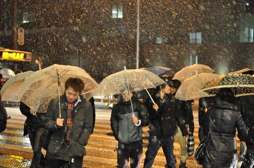 Paraguas transparentes, o casi