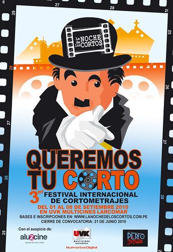 """Convocatoria al Festival """"La noche de los cortos"""" 2010"""