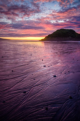 I'll have the sunset, over easy please. (Mark Solly (F-StopNinja)) Tags: pink sunset newzealand sky cloud reflection beach wet island back sand sugarloaf taranaki newplymouth trickle rivulets centenialdrive marksolly