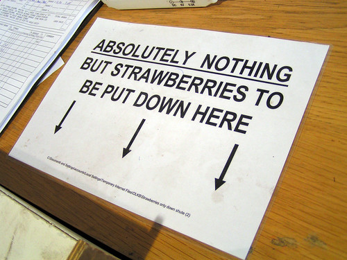 strawberry sign