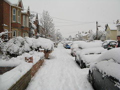 Our street (with snow)