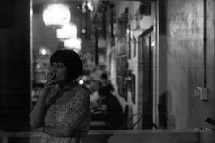 Smoking Time (khaniv13) Tags: portrait lady candid smoke snapshot cigarettes kopitiam oey