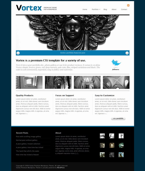 Vortex – ThemeForest Premium WordPress Theme