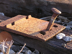 New way of seeing an oldie (Jer*ry) Tags: railroad neglect hardware rust iron tie spike roadbed