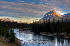 Sunrise on Castle Mountain Poster (Jim Dollar) Tags: alberta posters banff banffnationalpark canadianrockies jimdollar