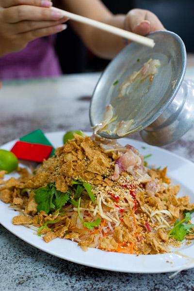 A dish of yusheng, Sek Yuen, Kuala Lumpur, Malaysia