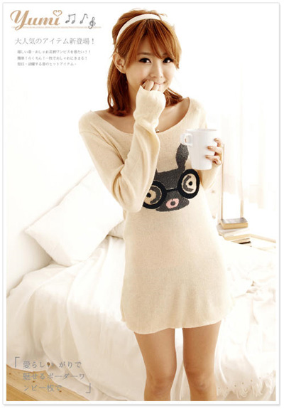 Bunny sweater dress