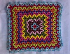 Wiggly crochet - Reverse side (LauraLRF) Tags: thread crochet wiggly cotton hilo cushion wiggle algodon tejido ganchillo almohadon