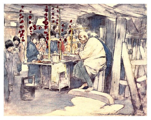 006-Comprando dulces-Japan  a record in color-1904- Mortimer Menpes