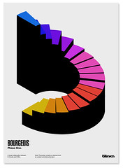 Bourgeois Poster (_Untitled-1) Tags: art geometric poster one design graphic swiss nowhere steps modernism clean staircase osaka network bourgeois phase information spindle modernist deconstructed