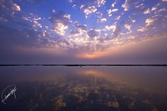 reflection of sunrise.. (Hamad A. Alajmi - www.Q8italk.com) Tags: blue sea cloud sun reflection beach water sunrise landscape sand rocks waves view sigma wideangle bluesky kuwait hamad sigma1020mm sigma1020 50d canon50d alajmi 3twe hamadalajmi alfrij 3twealfrij