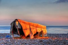 Undercover Fishing boat HDR at Budleigh Salterton 01 (Glenn Scott) Tags: beach photography coast boat suffolk fishing nikon pebbles devon vr burystedmunds budleigh salterton 18200mm d90 glennscott