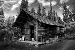 La miel del bosque (Miguel A. D.) Tags: casa refugio cabaa choza blackwhitephotos