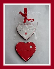 Happy Valentines Day (Sweet Creations Studio (by Senel)) Tags: red white love cookies hearts spain heart stuttgart amor valentine espana mallorca badenwrttemberg happyvalentine sweetcreationsstudion
