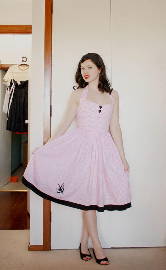 pink black dress1