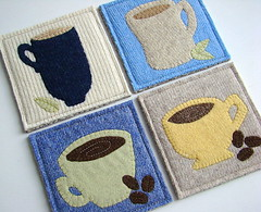 A Tea Party with Alice - Wool Trivet & Coaster Set from Sheep in a Heap
