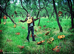 ronen forest (ronenyard) Tags: trees tree art forest photography israel jumping artist guitar fineart explosion surreal conceptual dali leaping halsman surrealisticpillow ronengoldman