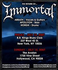 Immortal - The Avalon Hollywood - 07/15/07 (nuclearblastusa) Tags: immortal