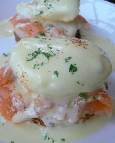 Salmon Benedict in the Dining Room
