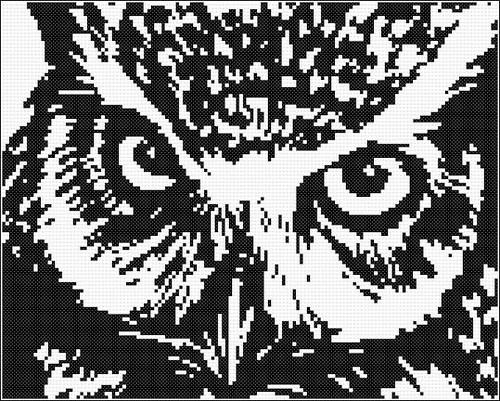owl cross stitch pattern