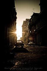 Havana (photoByKS) Tags: street old city morning light sun streets cars car sunrise 35mm twilight nikon havana cuba american carro rays nikkor habana vintagecars habanavieja americancar 352 photobyks d700 nikond700