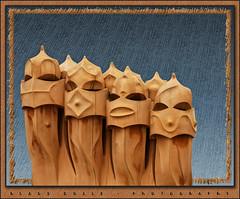 Gaudi and the chimneys of la Pedrera...(4) (www.klaus-dolle-photographie.com) Tags: barcelona architecture starwars gaud texturas chimneys casamila lapedrera guerreros schornsteine chimineas canonef24105mmf4lisusm klausdolle flickrdiamond