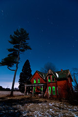 K20D4253 (Bob West) Tags: longexposure nightphotography winter ontario night fullmoon moonlight nightshots startrails 15c southwestontario bobwest k20d pentax1224 desertedredbrickhouse