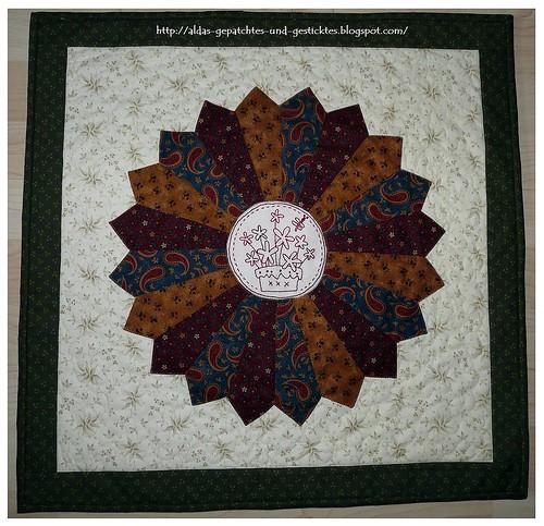 The Birdhouse-Daisypot im  Dresden Plate Quilt Nr.2.2