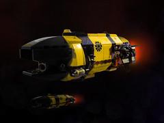 """Wasp"" Attack Frigate (Pierre E Fieschi) Tags: lego space scifi spaceship homeworld spacecraft fieschi microscale pierree"