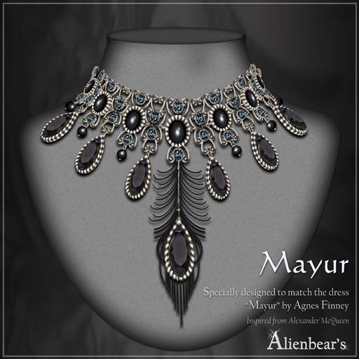 Mayur necklace black II
