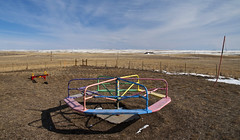 Recess......what to do ? (eDDie_TK) Tags: school rural schools merrygoround shawnee wy playgrounds carboncounty