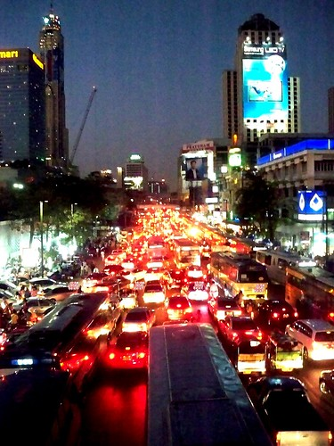 Ratchaprasong-On the road, Bangkok, Thailand