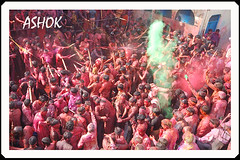 colourful holi in banchari [haryana] (ashok monaliesa) Tags: life people india colour indian culture traditions holi cultural haryana festiwal haryanvi