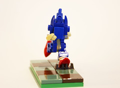 Sonic the Hedgehog [front] (invader_quirk) Tags: lego sonic
