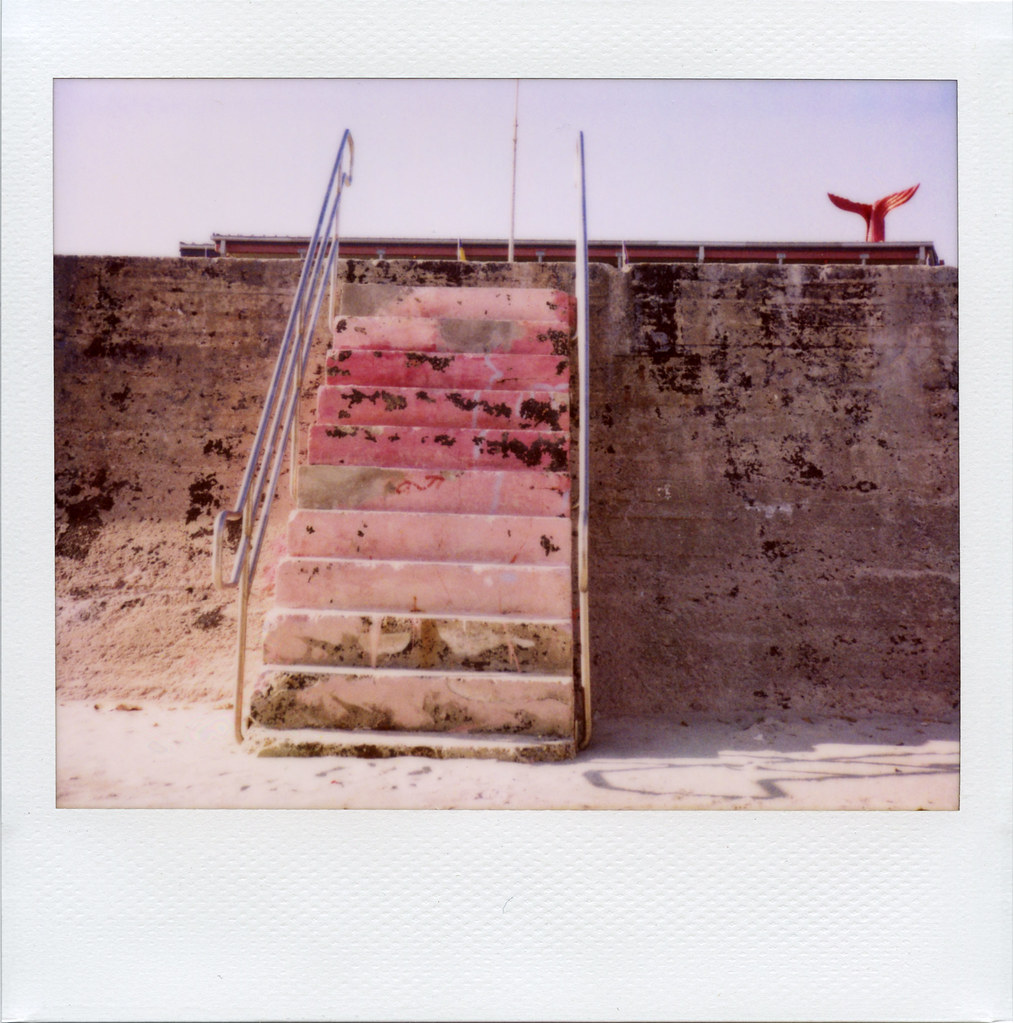 galveston: pink stairs