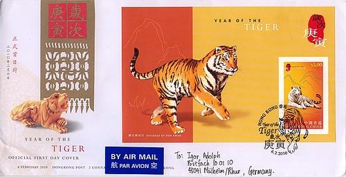 Jahr des Tigers Hongkong