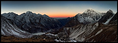 dawn on tsergo ri (doug k of sky) Tags: ri nepal panorama trek la doug central panoramic himalaya kanga naya ganja langtang mountainscapes lirung kofsky tserko tsergo artcat18871