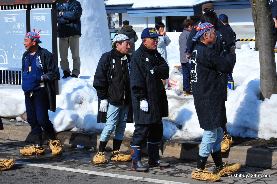 Some great snow footwear being shown off here.