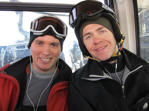 Josh & Zack on gondola at Canyons